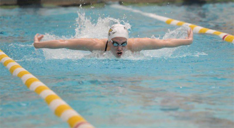 Towson swimmer
