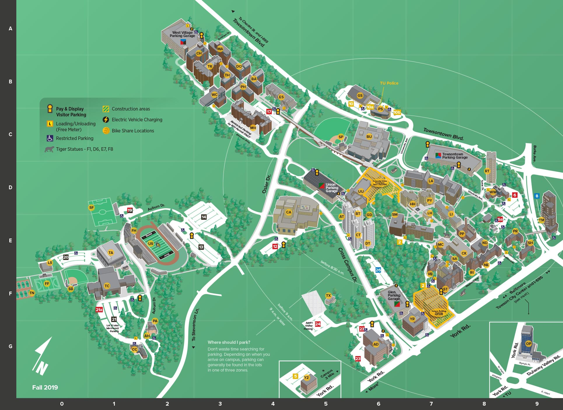 Towson Campus Map